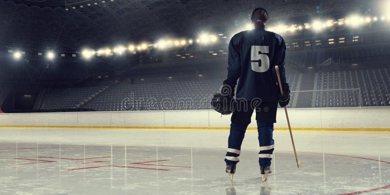 Kobiety sztuki hokej Mieszani środki zdjęcie stock