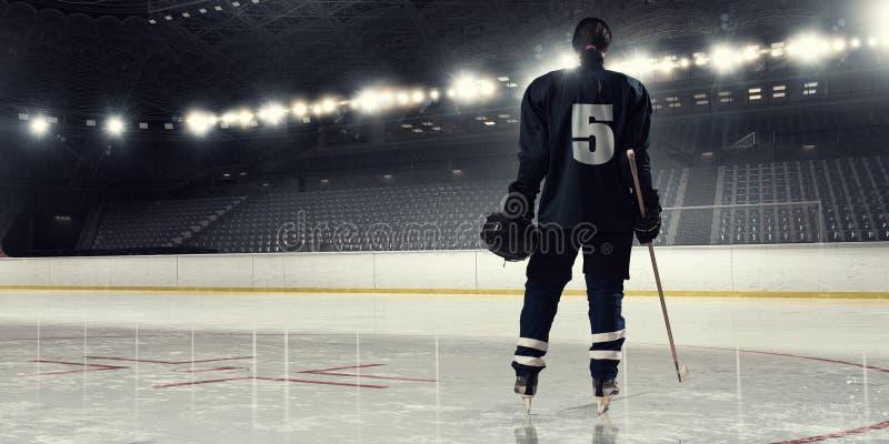 Kobiety sztuki hokej Mieszani środki fotografia royalty free