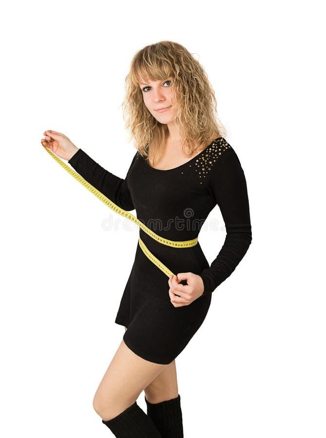 Kobiety talii czerni suknia fotografia stock