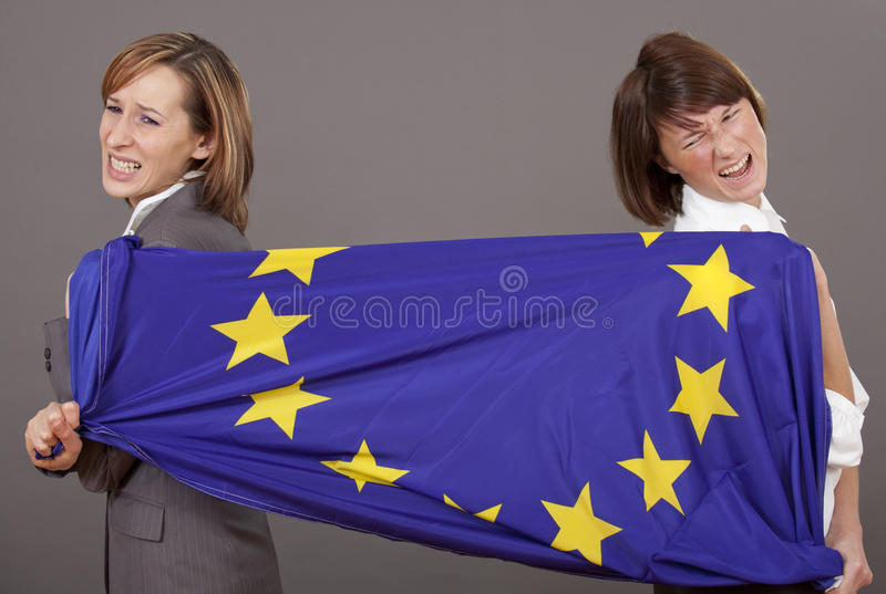 Kobiety target454_1_ na europejczyka flaga obraz stock