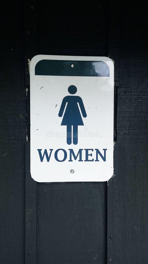 Kobiety toalety znak fotografia stock