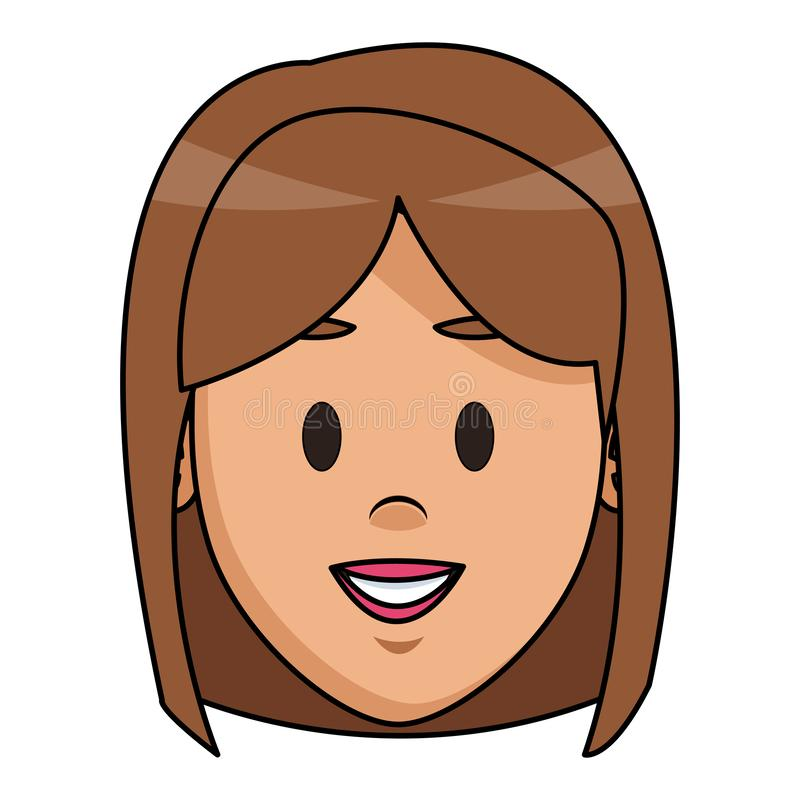 kobiety twarzy kreskówka royalty ilustracja
