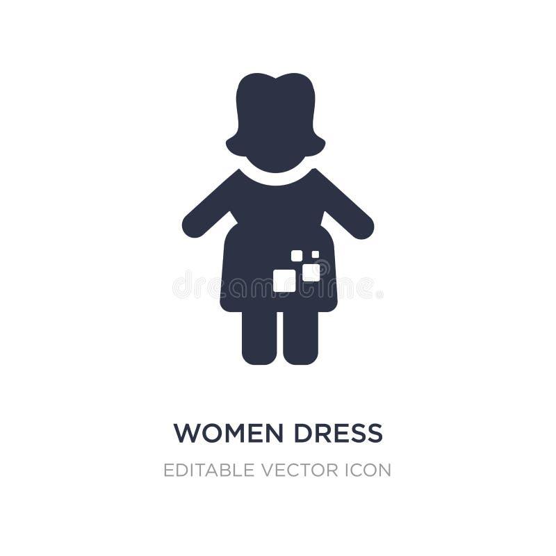 kobiety ubierają ikonę na białym tle Prosta element ilustracja od ludzi pojęć ilustracji