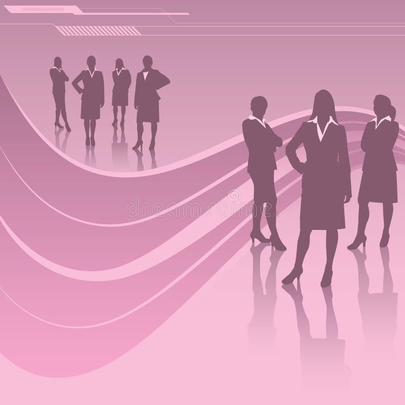 Kobiety w biznesie royalty ilustracja
