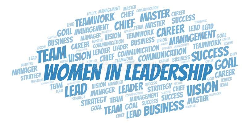 Kobiety W przywódctwo słowa chmurze royalty ilustracja