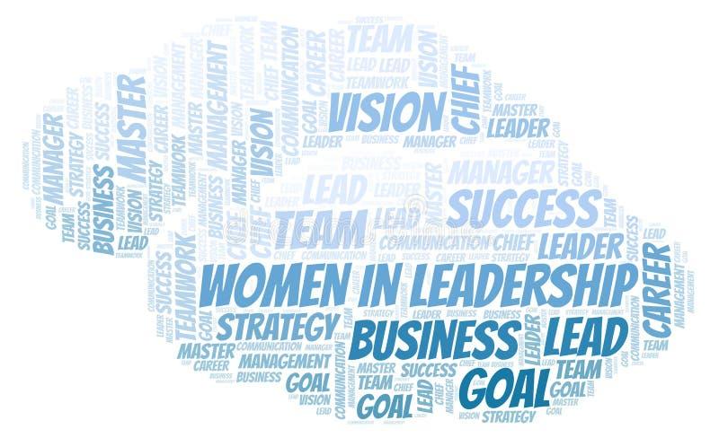Kobiety W przywódctwo słowa chmurze ilustracja wektor