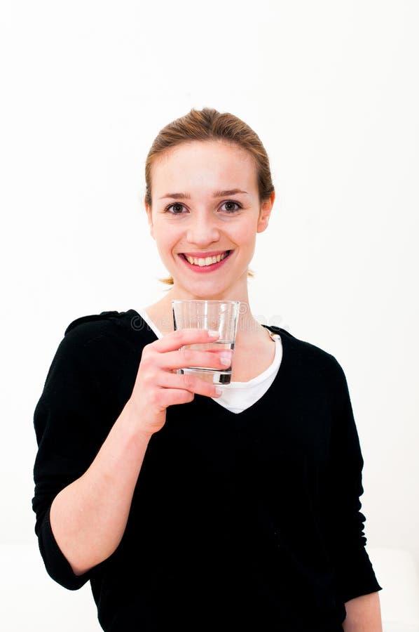 Kobiety woda pitna obrazy royalty free