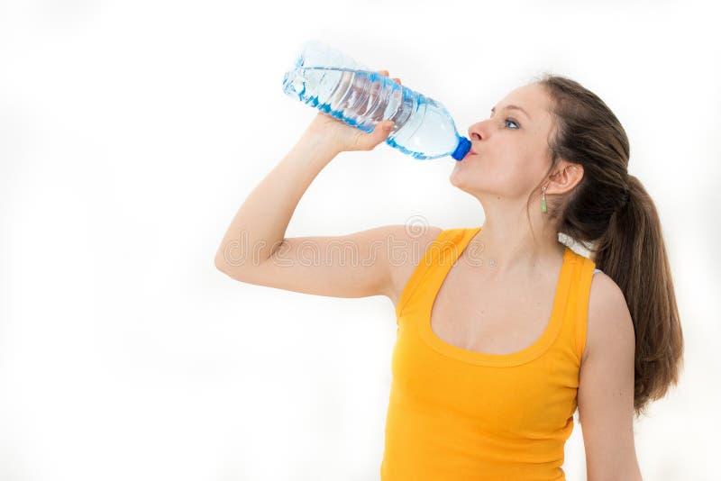 Kobiety woda pitna obraz royalty free