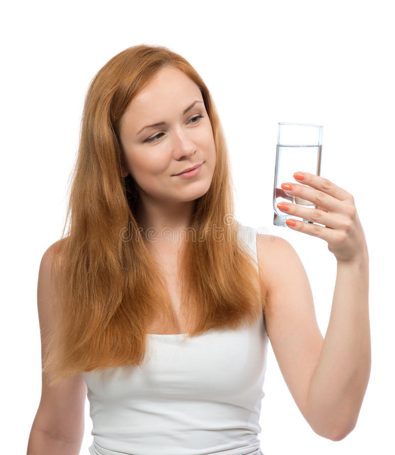 Kobiety wody pitnej stylu życia Zdrowy pojęcie zdjęcia stock