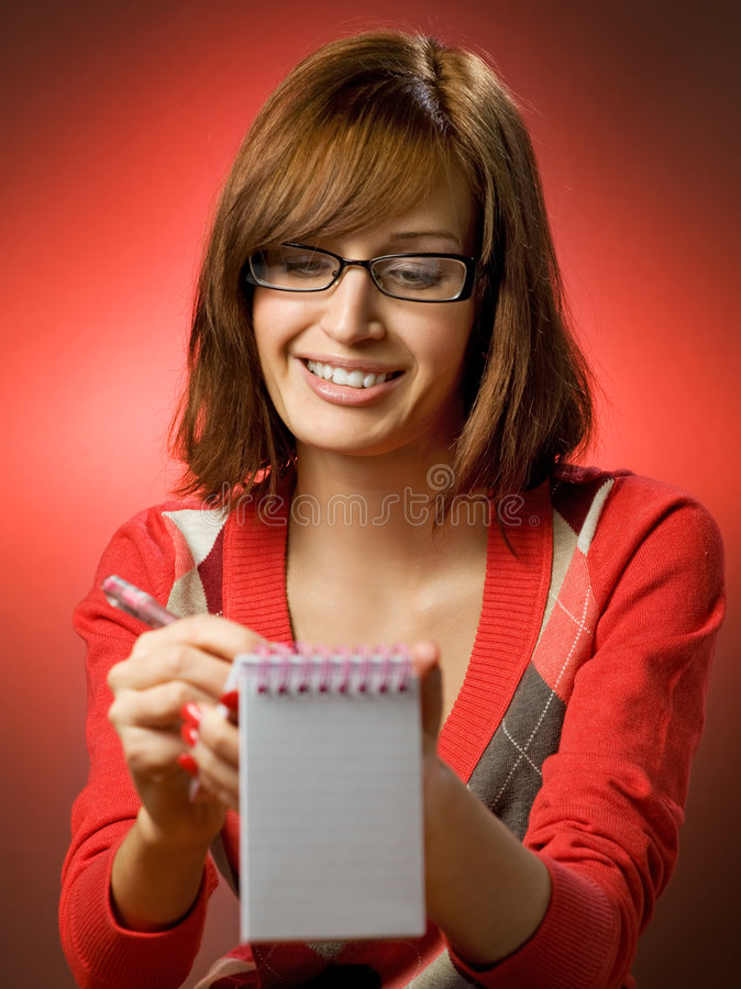 kobiety writing obraz stock
