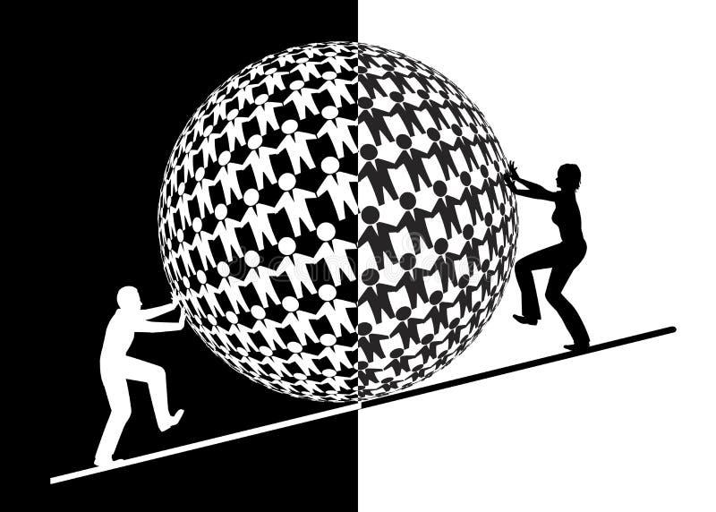 Kobiety wyzwania mężczyźni w biznesie ilustracji