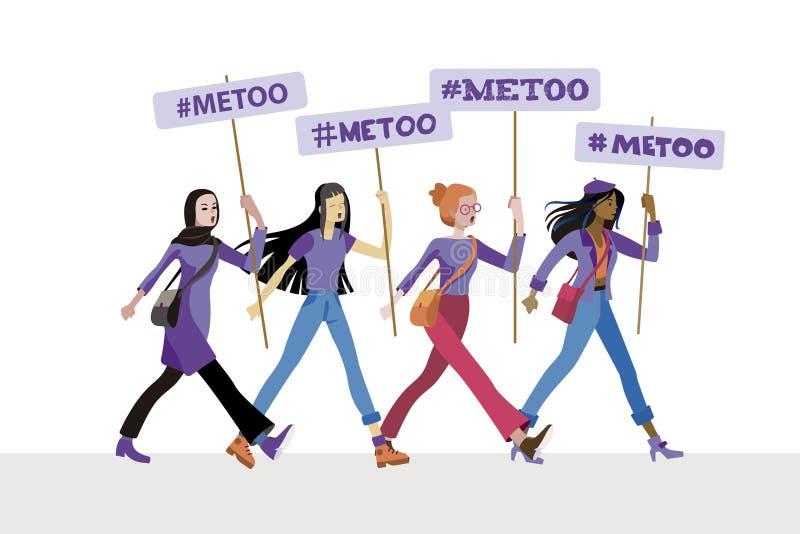 Kobiety z Ja zbyt plakaty ilustracji