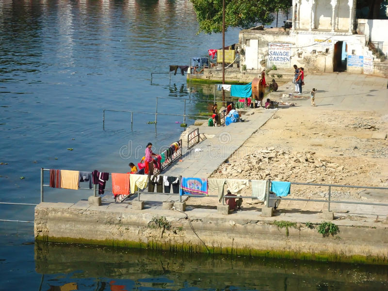 Kobiety zrobili pralni, Udaipur, Rajasthan, India fotografia royalty free