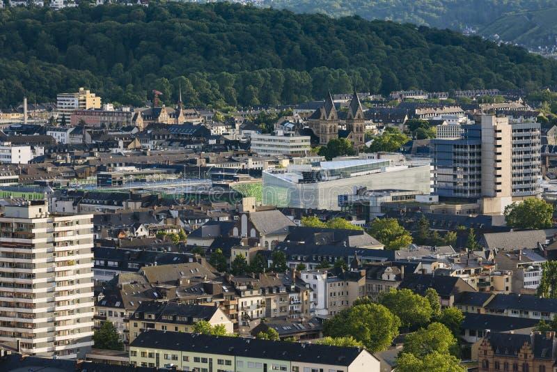 Koblenz centrum, ledare royaltyfria foton