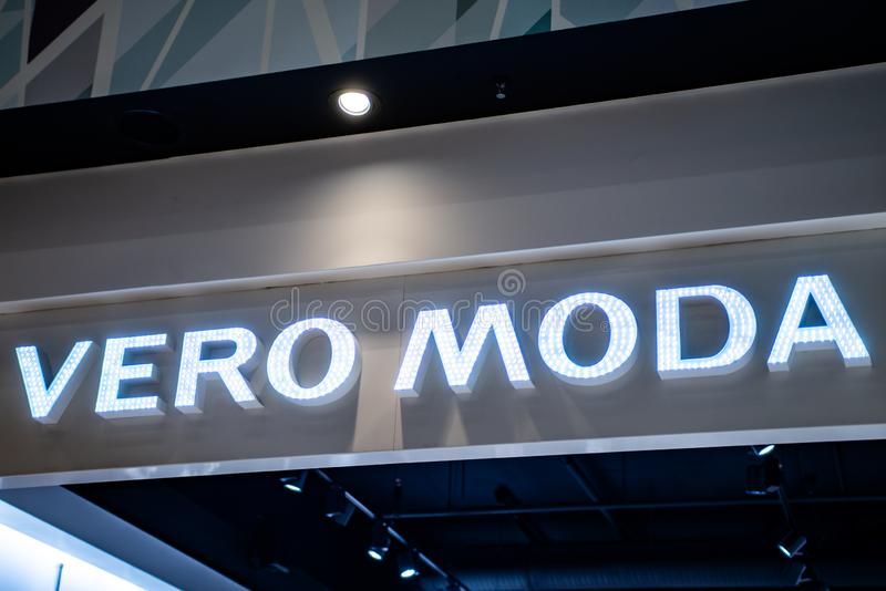 Koblenz Germany 15.12.2018 Vero Moda store logo in Luxury shopping center in the heart of the city stock images