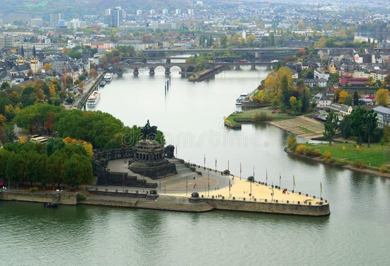 Koblenz niemiec kąt zdjęcie royalty free