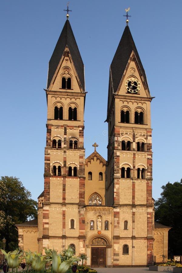 Koblenz - St. Castor church royalty free stock images