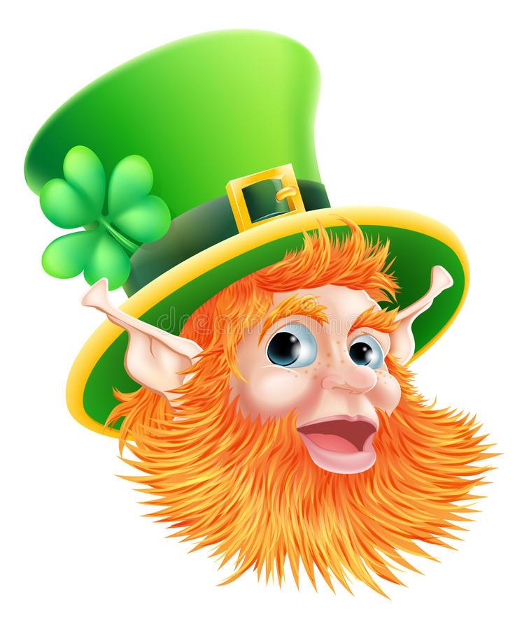 Kobold-Gesicht St. Patricks Tages vektor abbildung