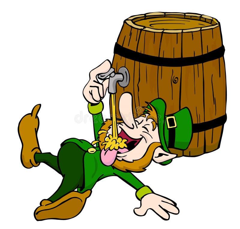 Kobold-Trinken lizenzfreie abbildung