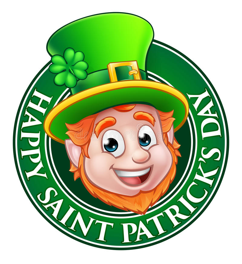Kobold-Zeichen Karikatur-St. Patricks Tages lizenzfreie abbildung