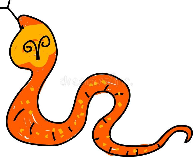 kobra stock illustrationer
