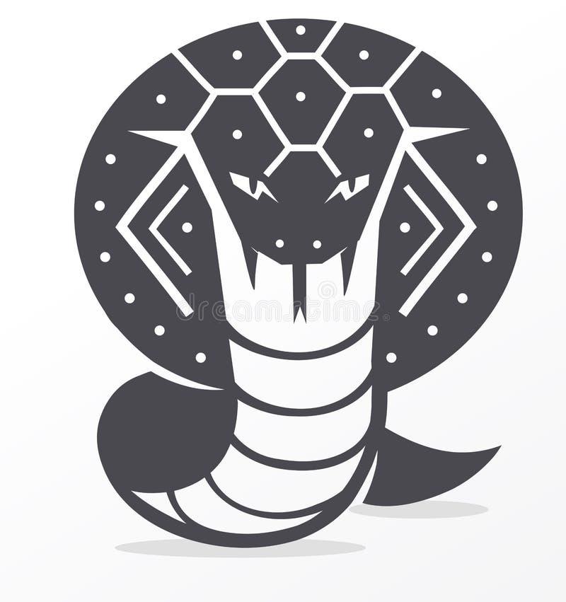 Kobra royaltyfri illustrationer
