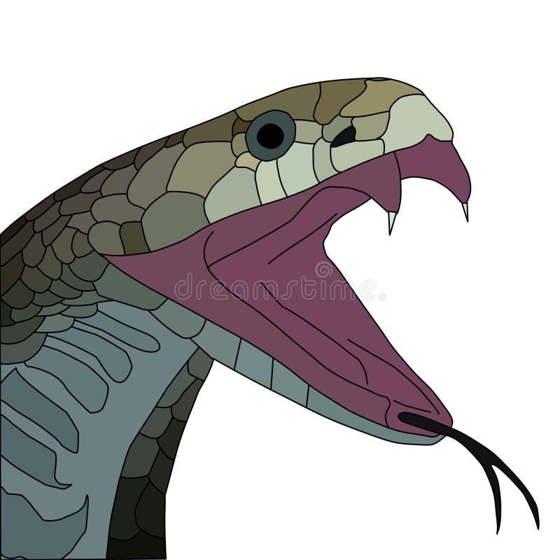 kobra vektor illustrationer