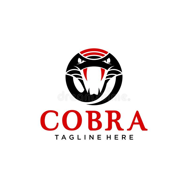 Kobra Logo Template stock illustrationer