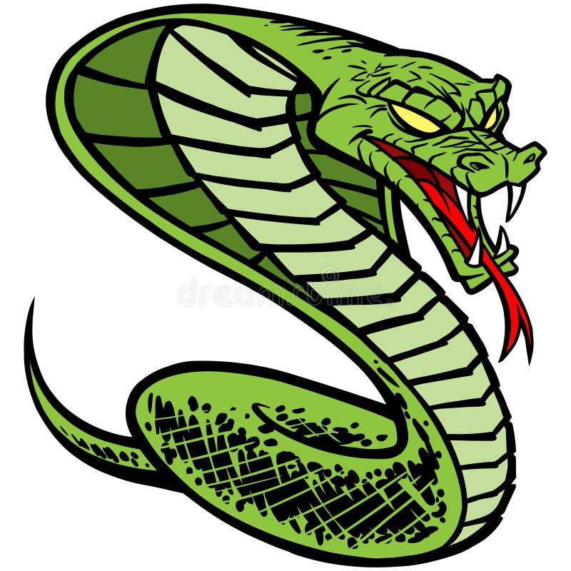 Download Kobra tatuaż ilustracja wektor. Ilustracja złożonej z konfrontacja - 53790248