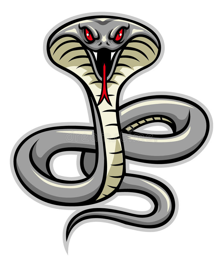 Kobra węża maskotka royalty ilustracja