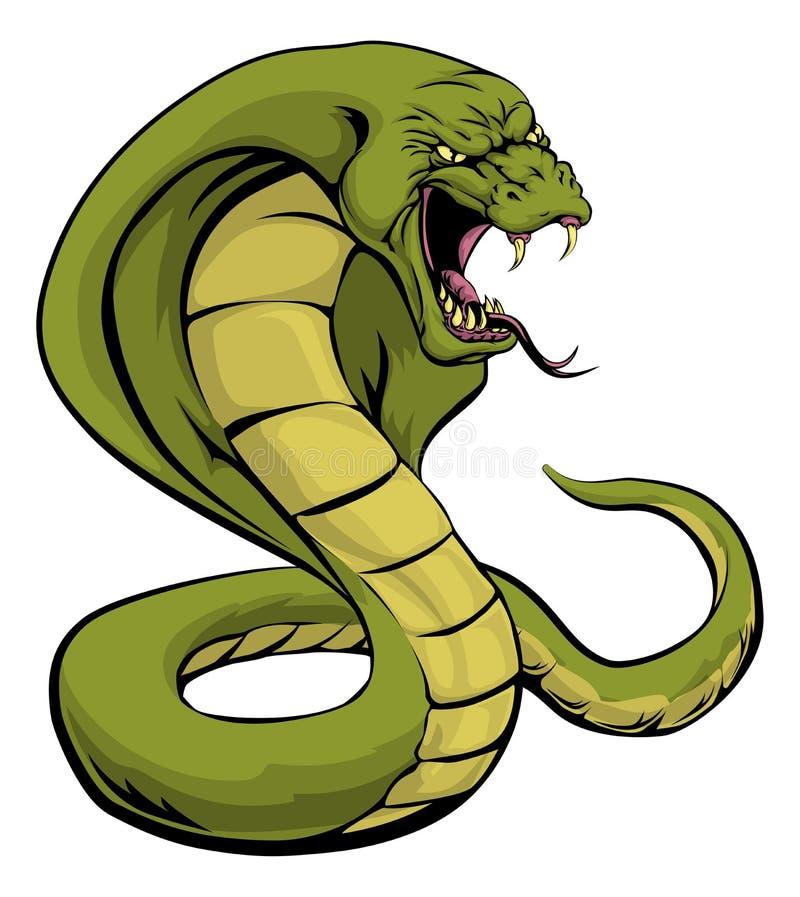 kobra węża uderzenie royalty ilustracja