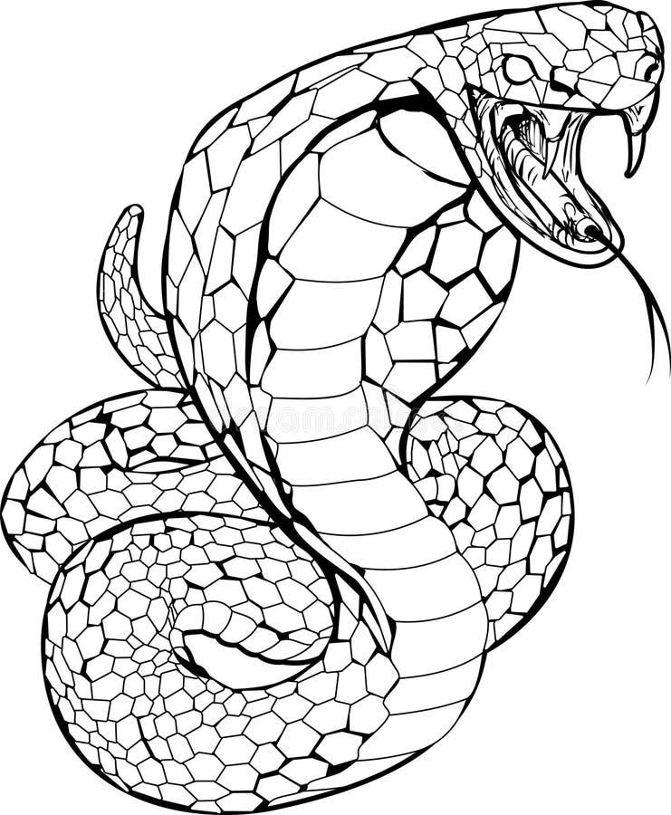kobraillustrationorm stock illustrationer