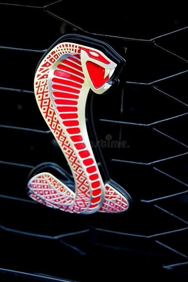 kobry emblemata brodu mustang shelby fotografia royalty free