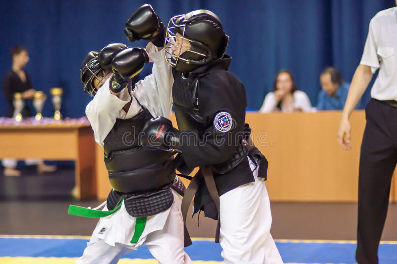 Download Kobudo Competition Between Boys Editorial Stock Image - Image: 40670439