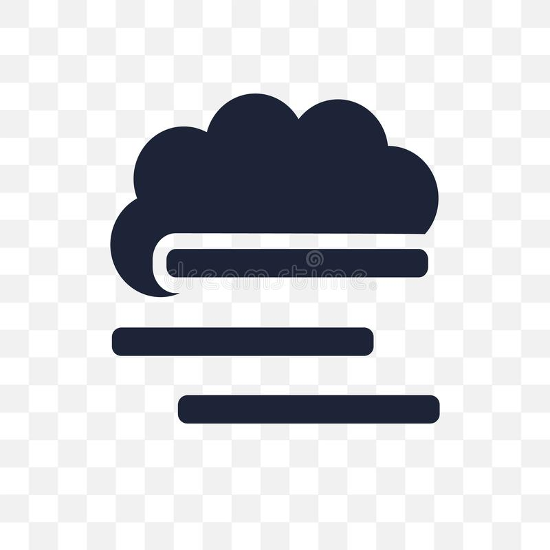 koc mgły przejrzysta ikona koc mgła symbolu projekt fr ilustracja wektor
