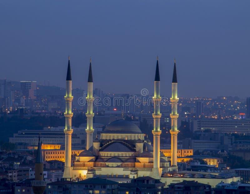 Kocatepe Mosque in Ankara. Turkey stock images