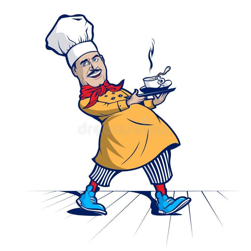 Koch-Cheflächeln stock abbildung