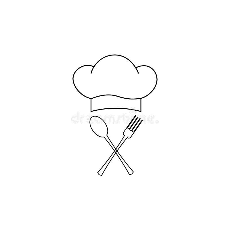 Koch, Cheflogo oder Aufkleber Illustration für Designmenürestaurant oder -café Auch im corel abgehobenen Betrag vektor abbildung