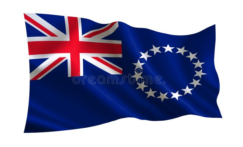 Koch Islands Flag Eine Reihe ` Flaggen der Welt ` Das Land - Koch-Islands-Flagge stock abbildung