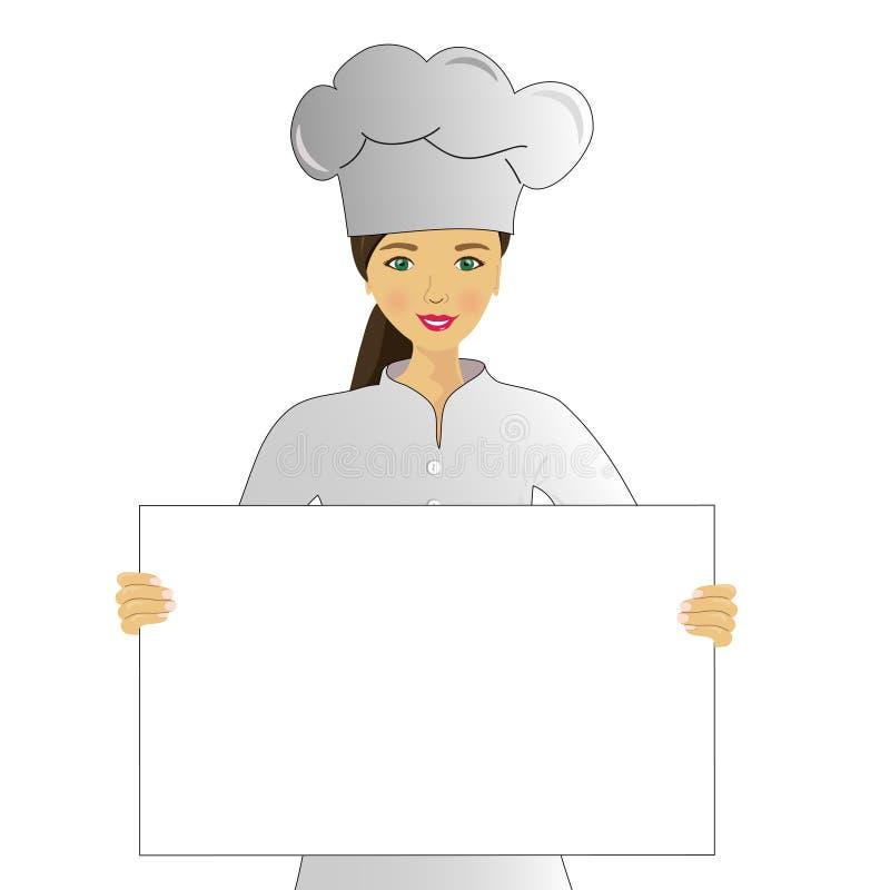 Koch mit Menü lizenzfreie abbildung