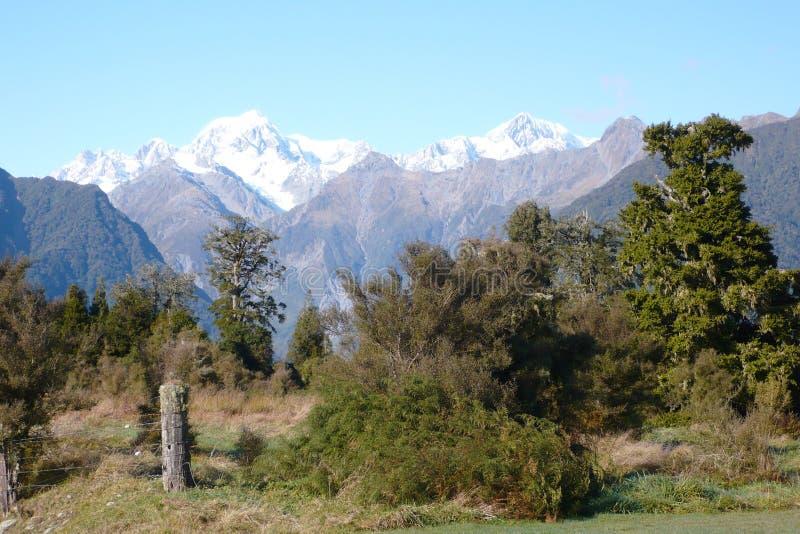 Koch Mt-Tasman u. Mt vom See   lizenzfreie stockfotografie