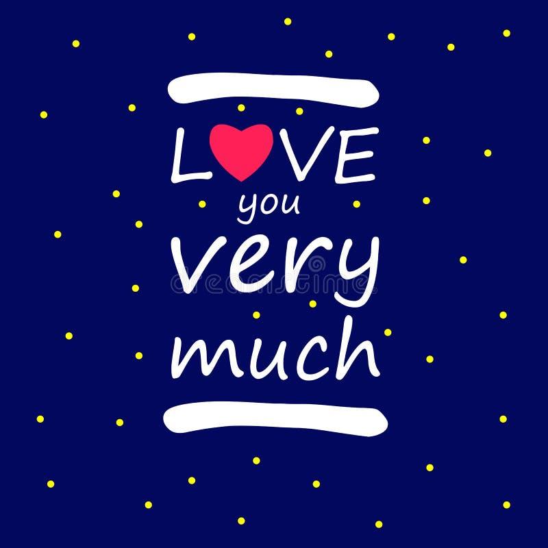 Kocha ciebie tak dużo miłość symbolu projekta wektoru znak ty tło ilustracja wektor