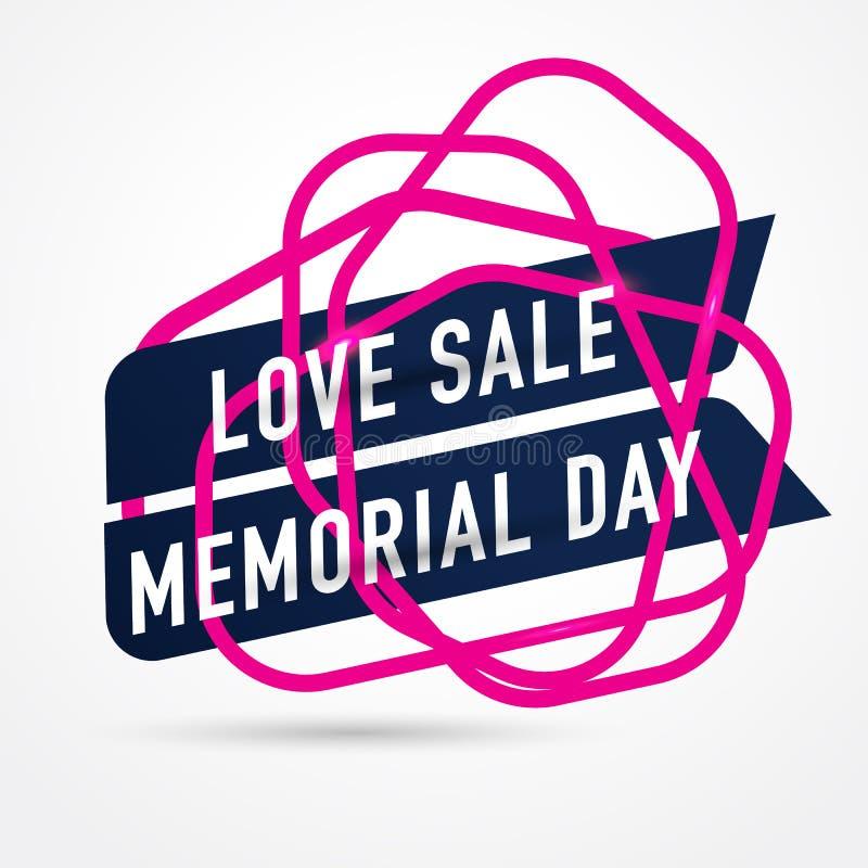 KOCHA sprzedaż dzień pamięci, ikony sprzedaż i specjalną ofertę, również zwrócić corel ilustracji wektora ilustracja wektor