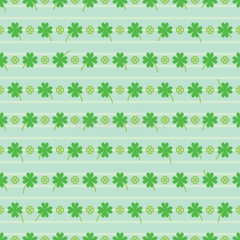 Kocha zielonego horyzontalnego lampasa St Patrick bezszwowego wzór ilustracja wektor