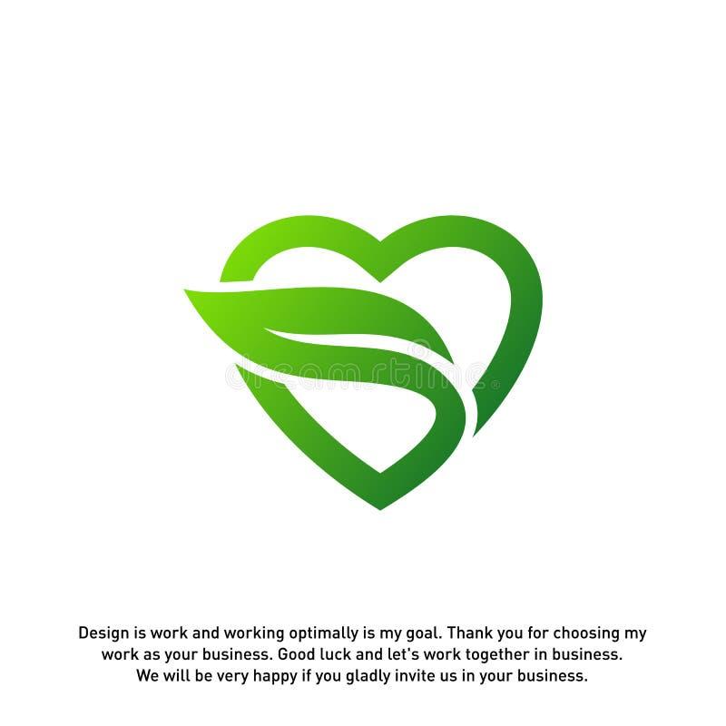 Kocha Zielonych Kreatywnie logo pojęcia, natura Kierowego logo, elementy i symbole, szablon - wektor royalty ilustracja