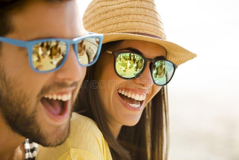 Kochają śmiać się zdjęcie stock