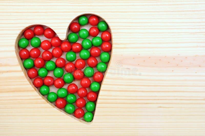 Kochający Bożenarodzeniowi cukierki obraz stock