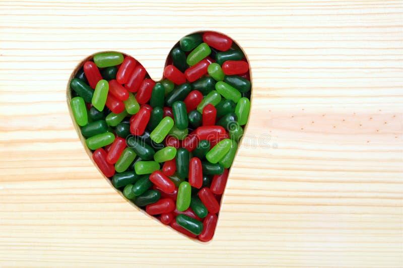 Kochający Bożenarodzeniowi cukierki zdjęcia stock