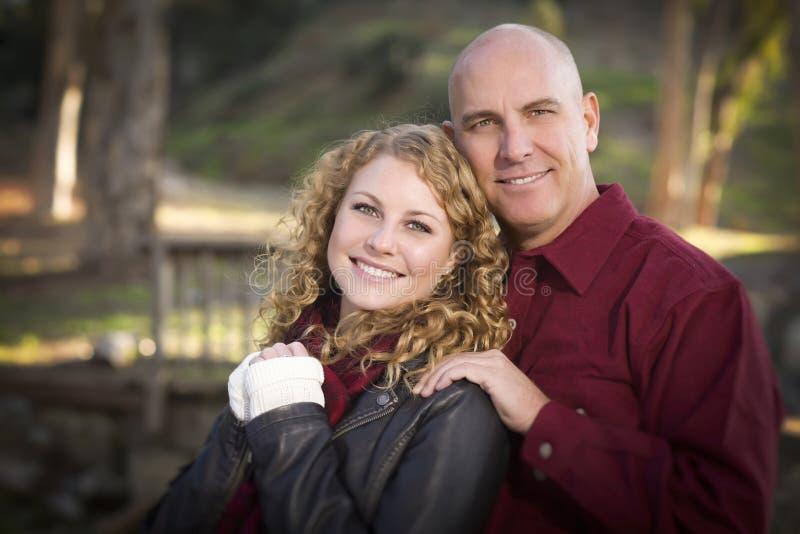 Kochający córki i ojca portret fotografia stock