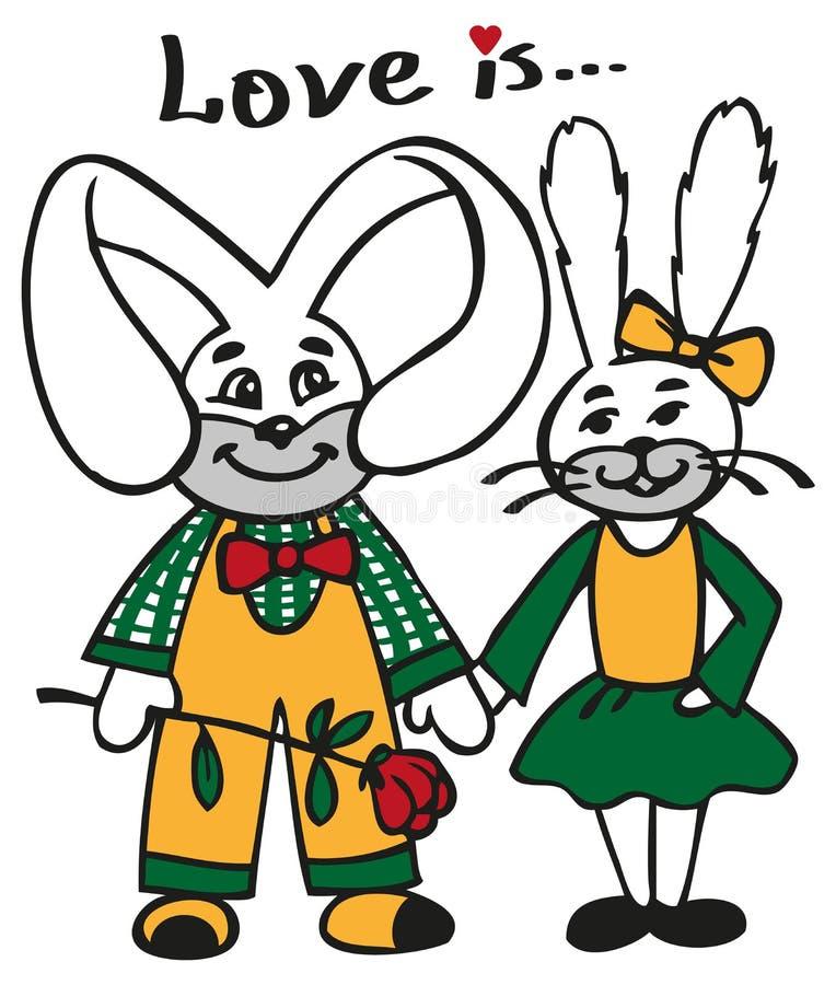 kochający króliki ilustracja wektor